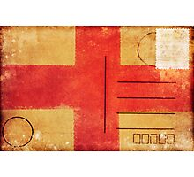 england flag on old postcard Photographic Print