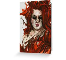 Hells Bride Greeting Card