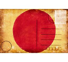 japan flag postcard Photographic Print