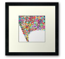 speech bubble design by gears and cogs Framed Print