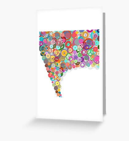 speech bubble design by gears and cogs Greeting Card