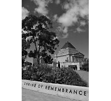 Shrine of Rememberance Photographic Print