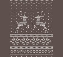Chunky Christmas Knit in White Unisex T-Shirt