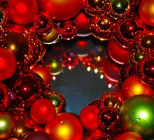 Cindi's Christmas Wreath by Michael Brewer