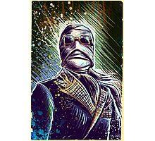 Invisible Man art print universal monster monsters cult classic classics horror sci fi science fiction bandage bandages joe badon halloween christmas Photographic Print