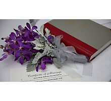 Marriage Certificate Photographic Print