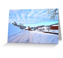 Snowy Swiss countryside near Lucerne, Switzerland. Greeting Card