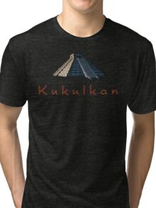 Pyramid of Kukulkan Tri-blend T-Shirt