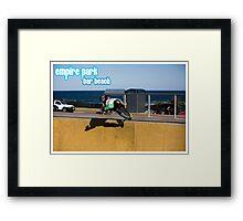 Frontside Bone Air - Empire Park Skate Park Framed Print