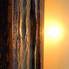 sunset on beach by shaft77