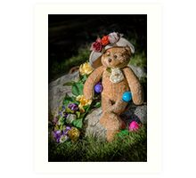Bear Stories: Have a Beary Happy Easter Art Print