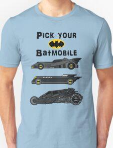 Pick your batmobile T-Shirt