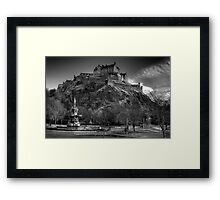 Edinburgh Castle Mono Framed Print