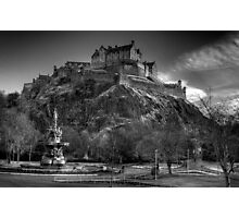 Edinburgh Castle Mono Photographic Print