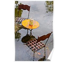 Submerged metal chairs and table Poster