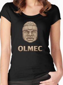 Olmec Head Women's Fitted Scoop T-Shirt