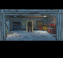 Fallout 4 Garage with Power Armor by HeySteve