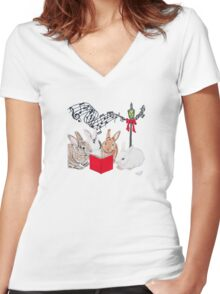 Christmas Card Series 1 - Design 11 Women's Fitted V-Neck T-Shirt
