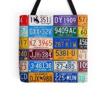 License Plates of the USA - Our Colorful American History Tote Bag