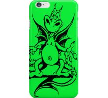 Funny Dragon - Bright Green iPhone Case/Skin
