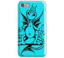 Funny Dragon - Light Blue iPhone Case/Skin