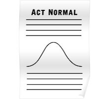 Act Normal Poster