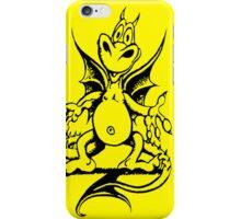 Funny Dragon - Yellow iPhone Case/Skin