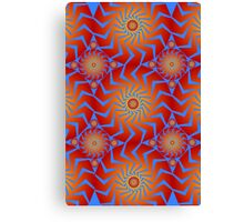 Abstract / Psychedelic Buzzsaw Pattern Canvas Print
