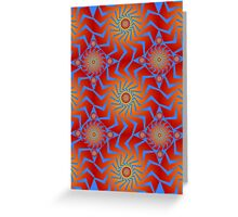 Abstract / Psychedelic Buzzsaw Pattern Greeting Card