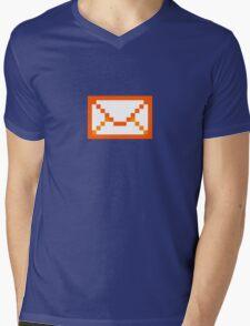 Orangered mail Mens V-Neck T-Shirt