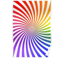 Colorful Psychedelic Spiral Pattern Poster