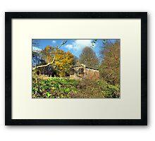 Little railway building  Framed Print