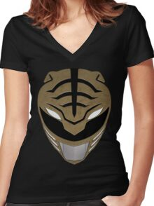 Go White Ranger Go Women's Fitted V-Neck T-Shirt