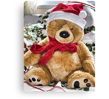 Teddy's Ready For Christmas Canvas Print