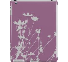 Purple and Grey Wildflower Silhouette iPad Case/Skin