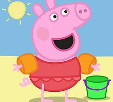 Peppa Pig Beach by V-aDool