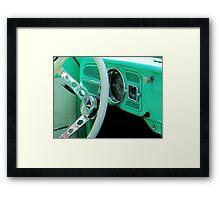 Classic Volkswagon Beetle Dash Framed Print