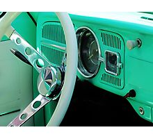 Classic Volkswagon Beetle Dash Photographic Print