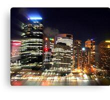 Sydney Night Utopia Canvas Print