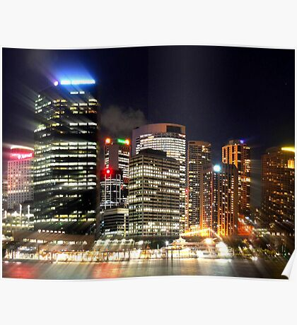 Sydney Night Utopia Poster