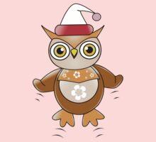 Santa Owl Kids Tee
