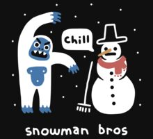 Snowman Bros One Piece - Long Sleeve