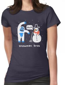 Snowman Bros Womens Fitted T-Shirt
