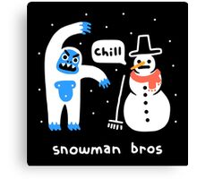 Snowman Bros Canvas Print