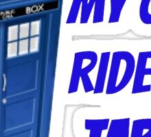 My other ride/phone is a TARDIS Sticker