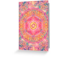 Abstract / Psychedelic Radial Pattern Greeting Card