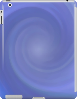 Ice Blue Swirl iPad Case by Betty Mackey