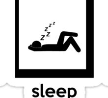 eat, sleep, 9gag Sticker