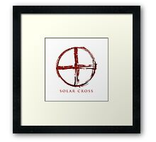 Solar Cross - Blood Edition Framed Print