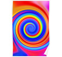 Psychedelic Color Swirl Poster